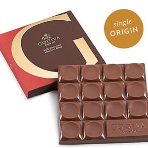 Otto's Granary G by G by Godiva Milk Chocolate Hazelnut Crisp Bar, 42% Cocoa, 2.7 oz.
