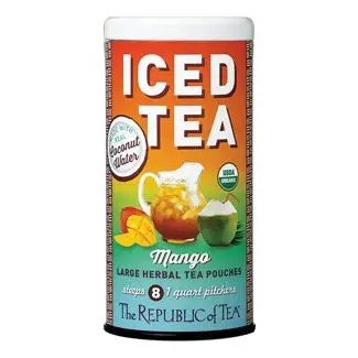 Otto's Granary Organic Mango Coconut Water Iced Tea Pouches by The Republic of Tea