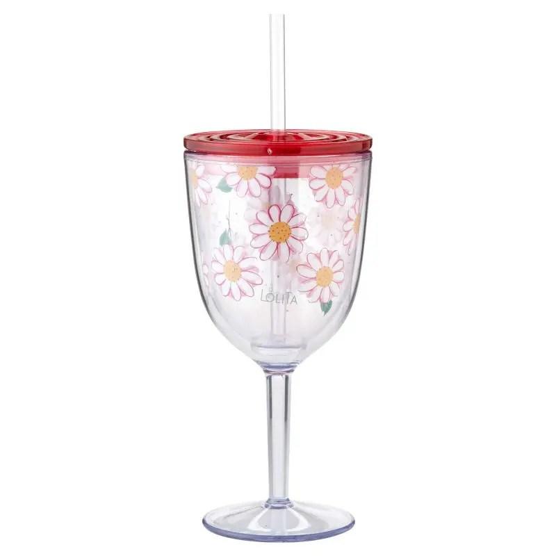 9a3c1ba79f0 Oops A Daisy Acrylic Wine Glass by Lolita 6002046