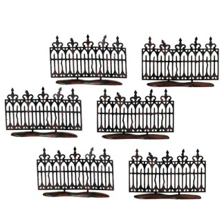 Otto's Granary Spooky Wrought Iron Fence - Village Halloween Accessories