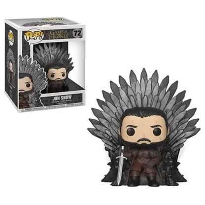 Otto's Granary Game of Thrones Jon Snow Sitting on Throne Deluxe #72 POP! Bobblehead