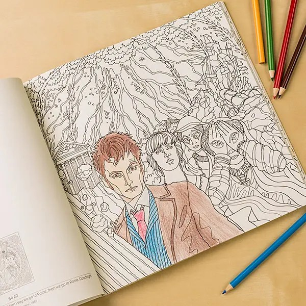 Doctor Who Travels In Time Coloring Book 534255 At Otto S Granary