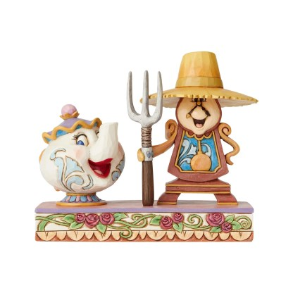 Cogsworth and Mrs. Potts - Disney Traditions by Jim Shore - 6002813