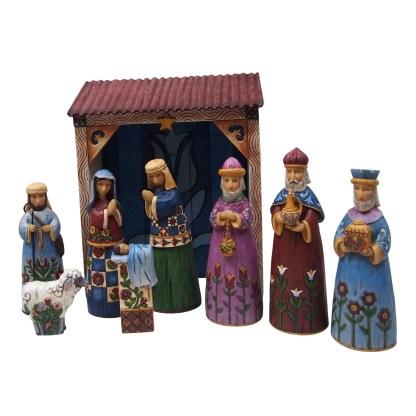 Folklore Nativity Set - Folklore by Jim Shore 6001441