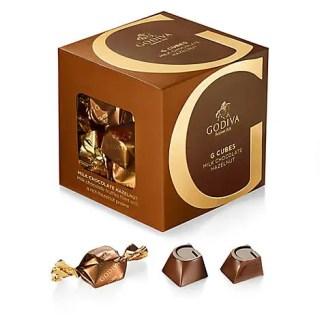 GODIVA 10pc. G Cube Milk Hazelnut - 12747