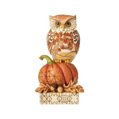 Harvest Owl on Pumpkin - by Jim Shore Heartwood Creek 6001542