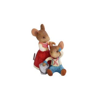 Jack & Jill Mice Figurine - Tails with Heart Mother Goose Collection 6005746