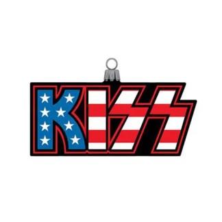 Otto's Granary KISS Logo Glass Ornament