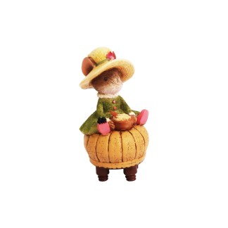 Otto's Granary Little Miss Muffet Mouse Figurine by Tails with Heart Mother Goose Collection