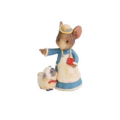 Mary had a Little Lamb Mouse Figurine - Tails with Heart Mother Goose Collection 6005747