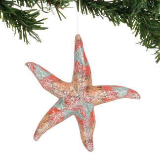Otto's Granary Pacific Gold Watercolor Star Ornament by Dept 56
