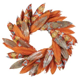 Otto's Granary Pacific Gold Watercolor Wreath by Dept 56