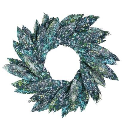 Otto's Granary Pearl Bay Watercolor Wreath by Dept 56