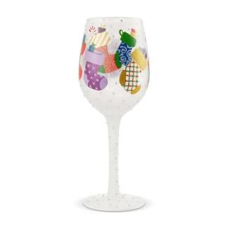Stockings 15oz. Wine Glass by Lolita 6004431