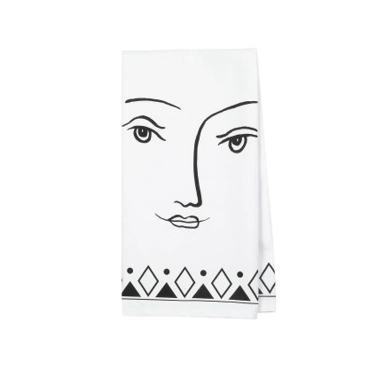 Otto's Granary Pen & Ink Female Tea Towel by Izzy & Oliver