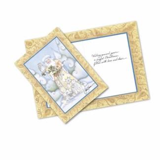 Otto's Granary White Woodland Santa Greeting Cards by Jim Shore