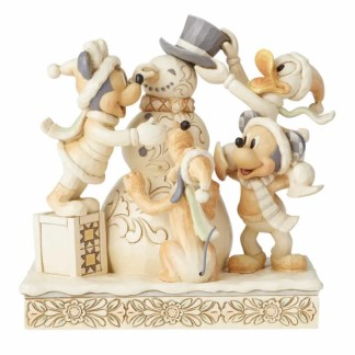 Otto's Granary Fab Four White Woodland Figurine by Jim Shore