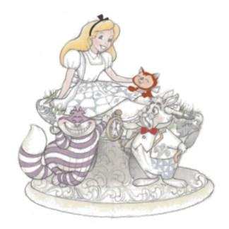 Otto's Granary White Woodland Alice Wonderland Figurine by Jim Shore