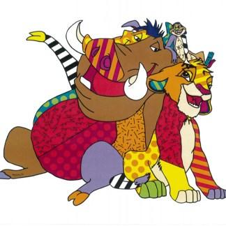 Otto's Granary Simba, Timon and Pumba Disney by Britto Figurine