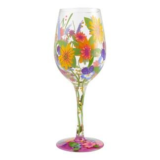 Otto's Granary Wine in the Garden 15oz. Wine Glass by Lolita