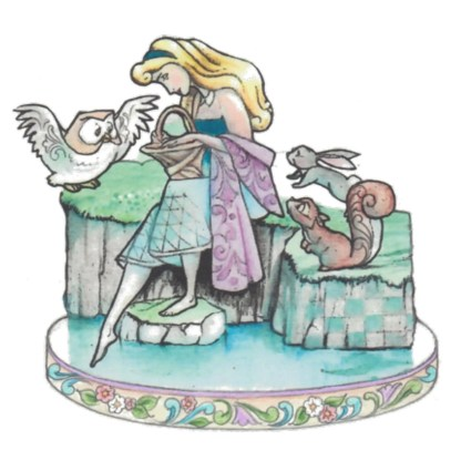 Otto's Granary Sleeping Beauty with Animals Figurine by Jim Shore