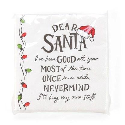 Otto's Granary Dear Santa I've Been Napkins Entertainment by Izzy and Oliver