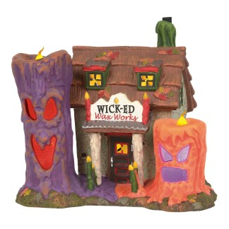 Otto's Granary Wicked Wax Works - Halloween Village by Dept 56