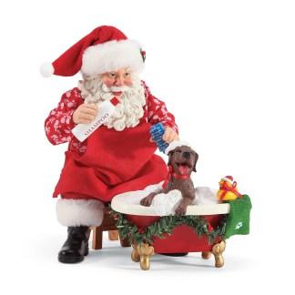 Otto's Granary Splish Splash - Santa and His Pets Figurine by Possible Dreams