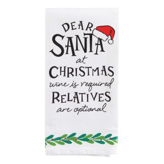 Otto's Granary Dear Santa Relatives Wine is Towel Entertainment by Izzy and Oliver