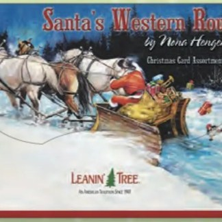 Otto's Granary Santa's Western Route Christmas Card Assortment By Leanin Tree Cards