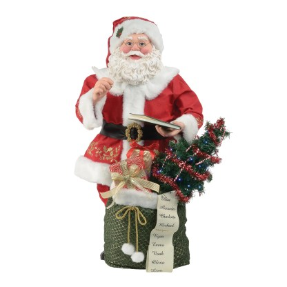 Otto's Granary Santa's Book - Christmas Traditions Figurine by Possible Dreams