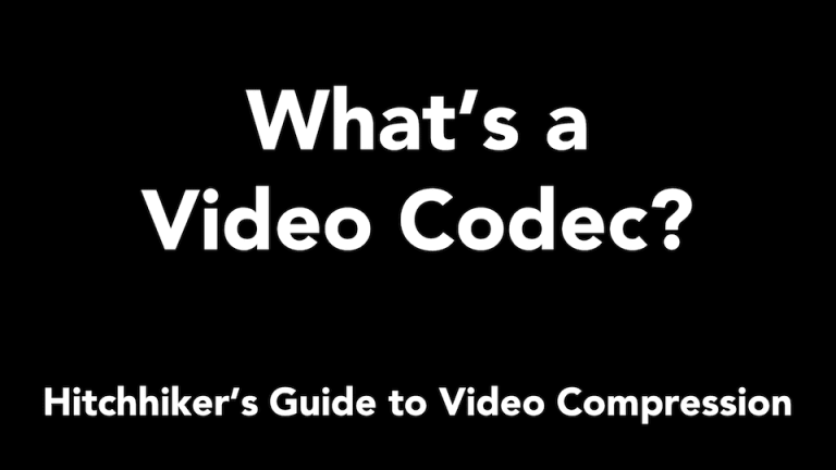 What's a Video Codec – Layman's Explanation