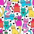 Minky Way Fabrics Cats