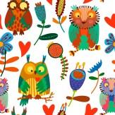 Minky Way Fabrics Crazy Owls