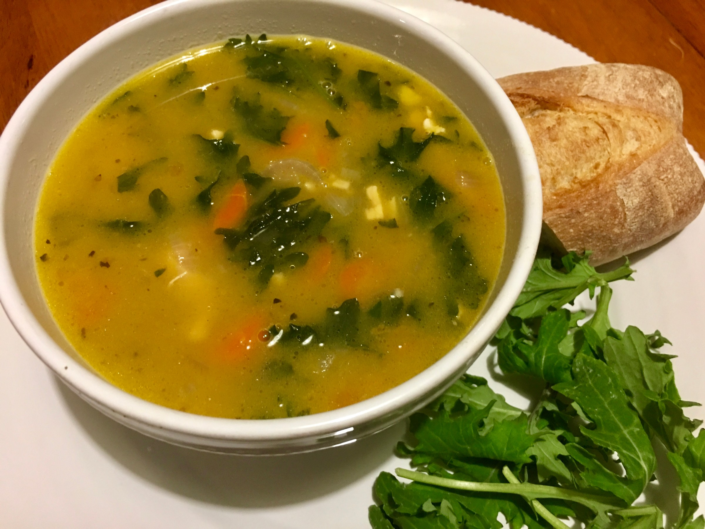 Chicken, Rice, White Bean and Kale Soup Recipe
