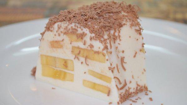 Вкусный и воздушный творожный десерт с бананом