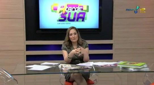 """""""A Tarde é Sua"""" é comandado pro Sonia Abrão (Foto: Divulgação)"""