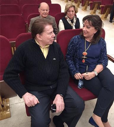 """Silvio Santos se encontra com Edir Macedo no """"Templo do Salomão"""" (Foto divulgação)"""