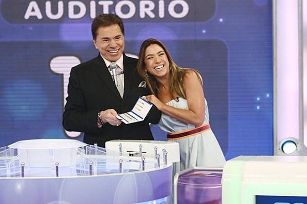 Silvio Santos e sua filha, Patrícia Abravanel (Foto: Divulgação)