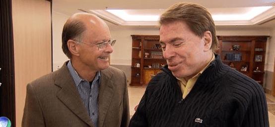 """Após 17 anos, Silvio Santos e Edir Macedo se reencontram no """"Templo do Salomão"""" (Foto reprodução: Record)"""