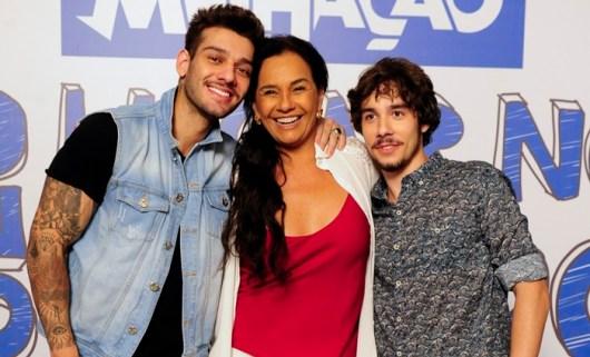 Solange Couto , Lucas Lucco e Vitor Novello (Foto: Globo/Estevam Avellar)