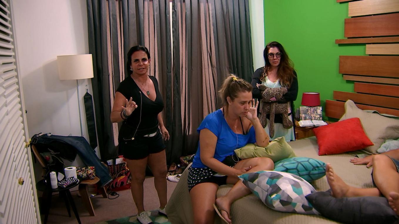 """Gretchen, Andreia e Simony no """"Power Couple"""" de ontem (24) (Foto: Divulgação/Record)"""