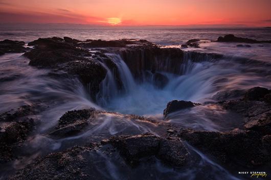 Морские водопады в Орегоне образованы могучим океаном.