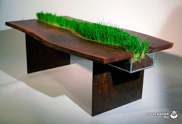 Стол для котов с травой