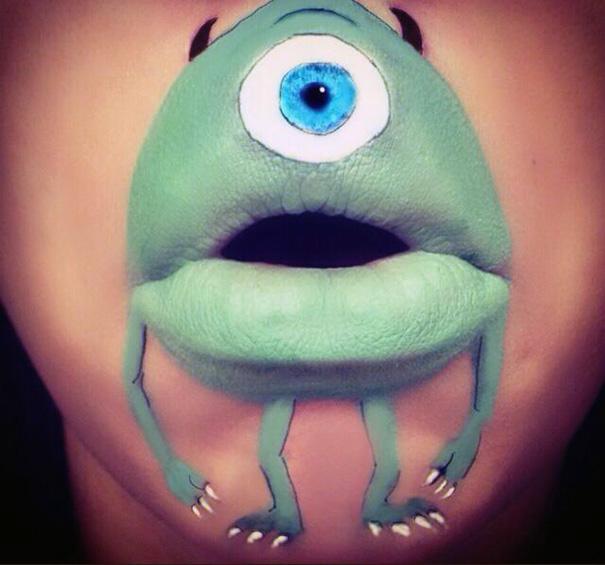 герои мультфильмов нарисованные губах