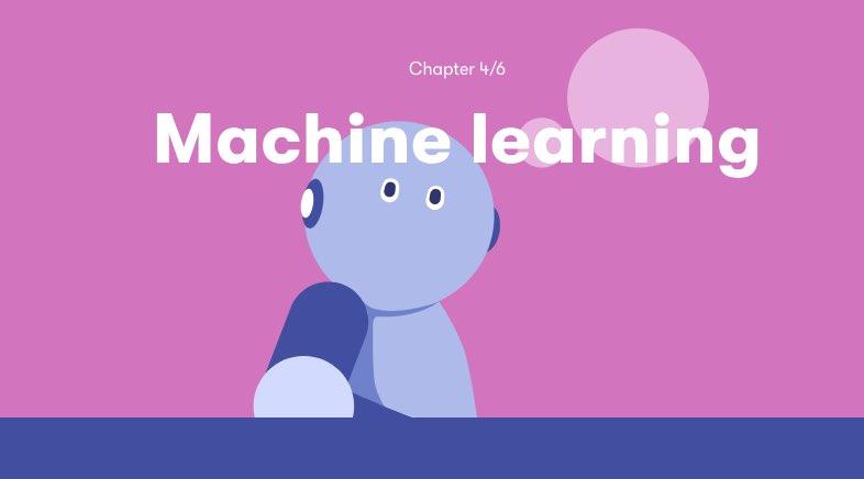 zrzut ekrany z kursu o sztucznej inteligencji, napis Machine learning
