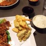 AJITEN 照焼定食。ご飯、味噌汁などもある