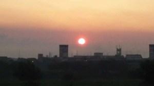 利根川の日の出。