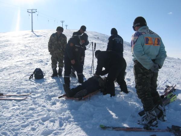 Спасательная операция в горах