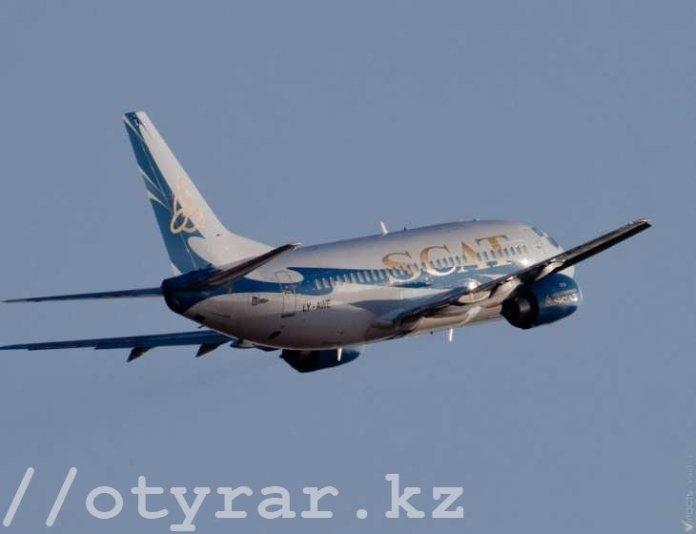 Самолет авиакомпании СКАТ